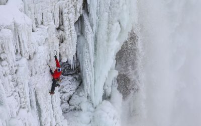 Being there for the 1st Ascent of Niagara Falls!
